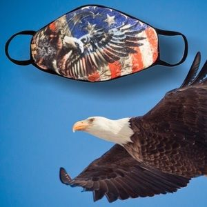 Other - New IN STOCK NOW USA Eagle Flag Patriot Face Mask